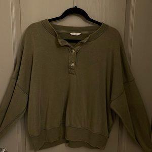 Henley sweatshirt from American Eagle